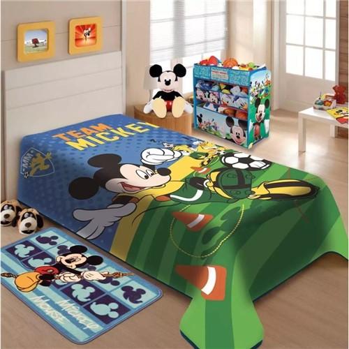 Cobertor Rashel Disney Mickey Futebol 150X200 - Jolitex
