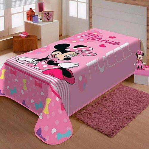 Cobertor Solteiro Jolitex Raschel Infantil Minnie