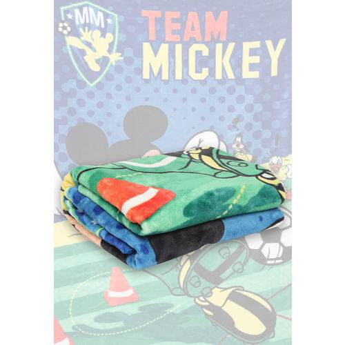 Cobertor Solteiro Jolitex Raschel Mickey Azul
