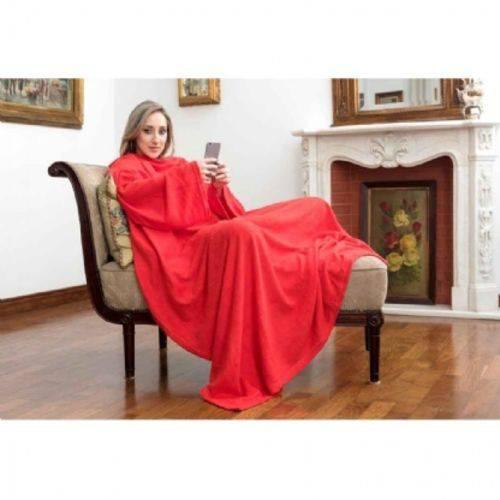 Cobertor Tv com Mangas 1.60x1.30m - Vermelho