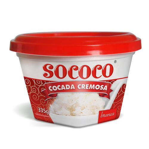 Cocada Cremosa Branca 335g - Sococo
