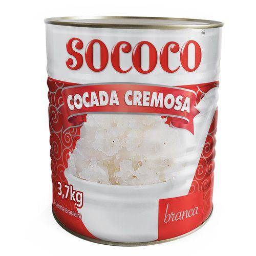 Cocada Cremosa Branca 3,7kg - Sococo