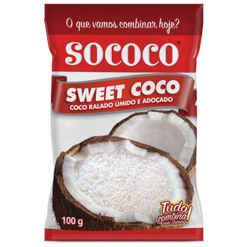 Coco Ralado Sweet Coco Sococo 100g - 24 Unidades