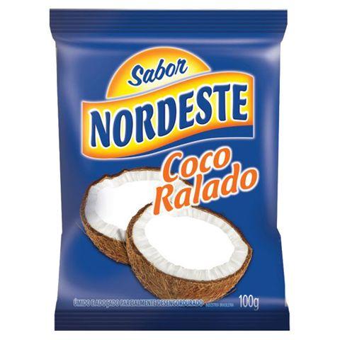 Coco Ralado Úmido e Adoçado 100g - Sabor Nordeste