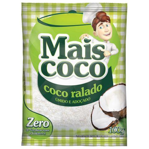 Coco Ralado Úmido e Adoçado Mais Coco 100g - Sococo