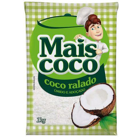 Coco Ralado Úmido e Adoçado Mais Coco 1kg - Sococo