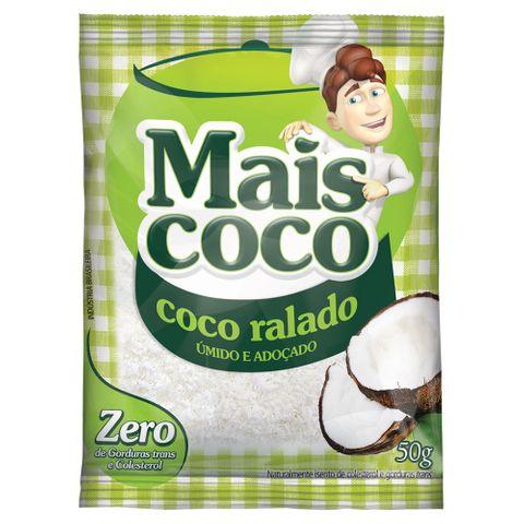 Coco Ralado Úmido e Adoçado Mais Coco 50g - Sococo