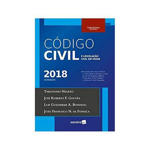 Código Civil e Legislação Civil em Vigor 36ªed. - Saraiva