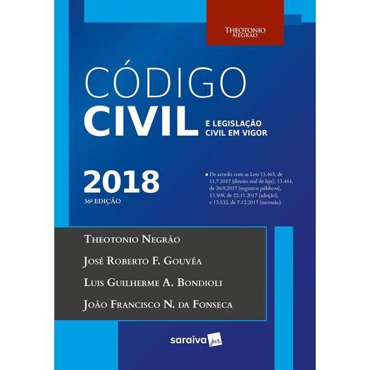 Codigo Civil e Legislacao Civil em Vigor - Saraiva - 36 Ed