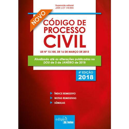 Código de Processo Civil 2018 – Mini