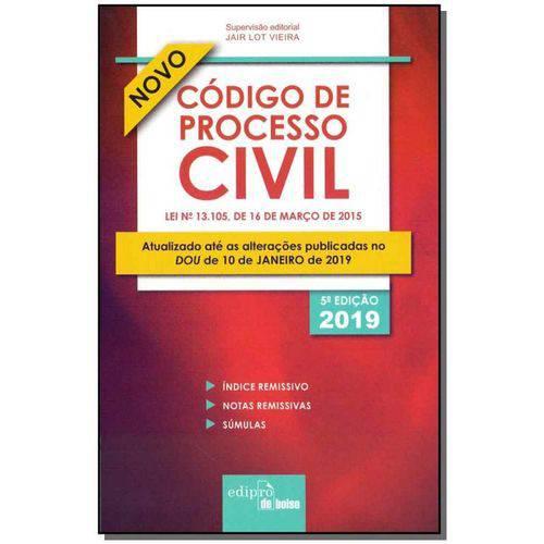 Código de Processo Civil - 05ed/19 - Mini