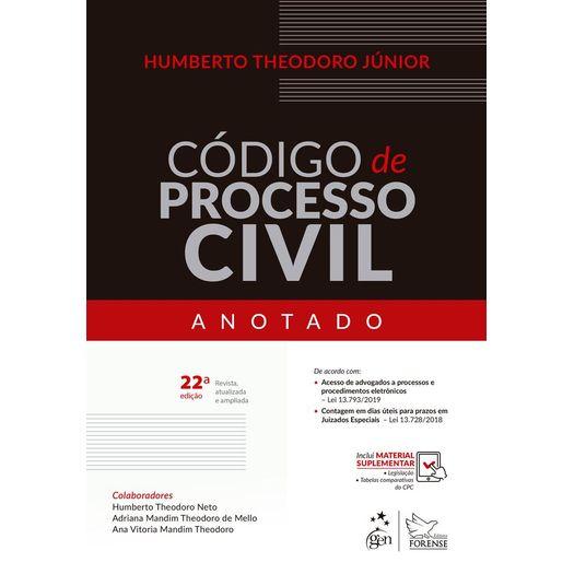 Codigo de Processo Civil Anotado - Forense