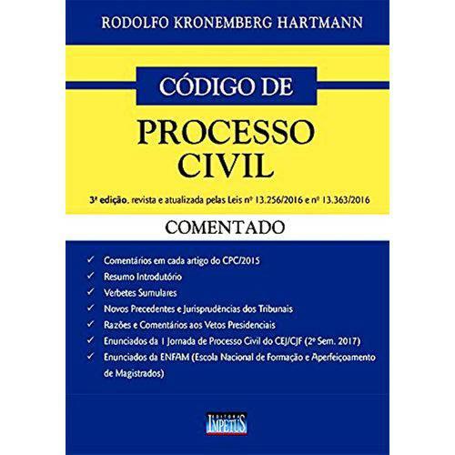 Código de Processo Civil Comentado - 3ª Edição - 2018