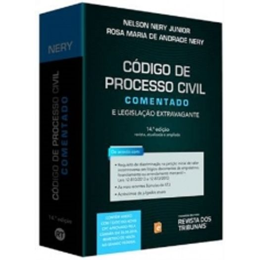 Codigo de Processo Civil Comentado - Nery - Rt - 14 Ed