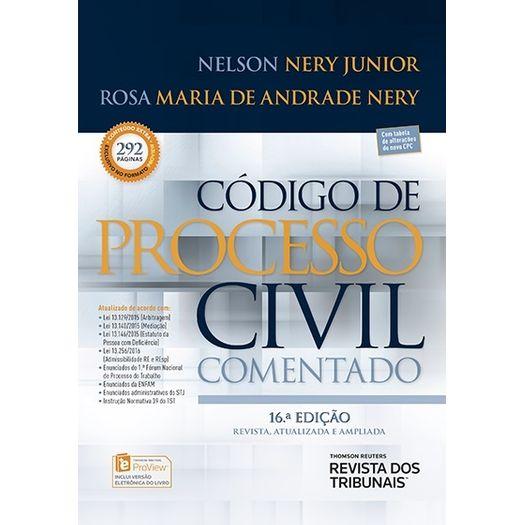 Codigo de Processo Civil Comentado - Nery - Rt - 16 Ed