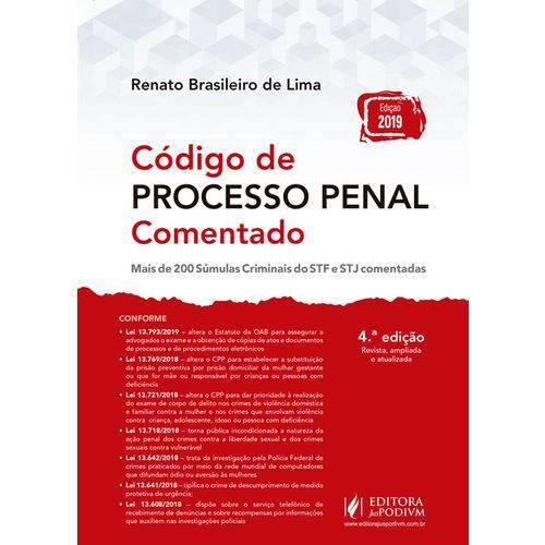 Código de Processo Penal Comentado - 4ª Edição (2019)