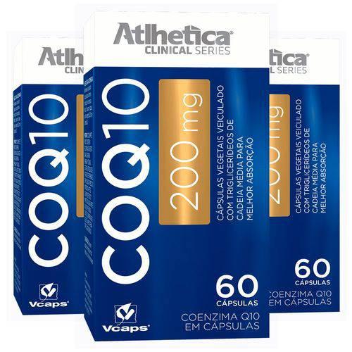 Coenzima Q10 200mg - 3x 60 Cápsulas - Atlhetica