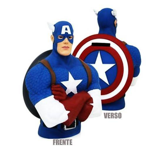 Cofre Busto Capitão América Marvel Original