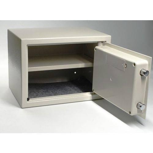 Cofre Eletrônico Digital e Manual com Chave Modelo Prateleira 25x35x25cm Marca Akordar