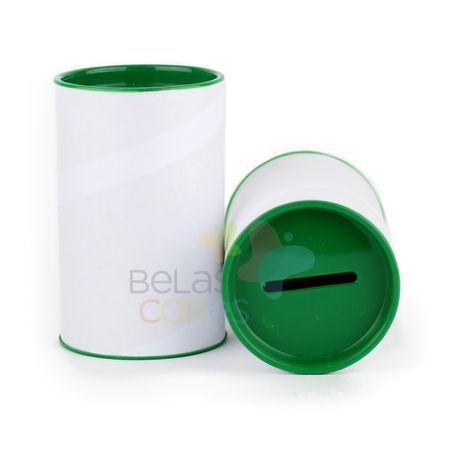 Cofrinho 10x6 para Lembrancinha - Verde Bandeira - Kit C/ 10 Unidades