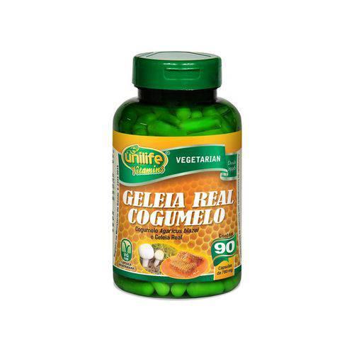 Cogumelo Agaricus Blazei e Geleia Real Liofilizada - Unilife - 90 Cápsulas