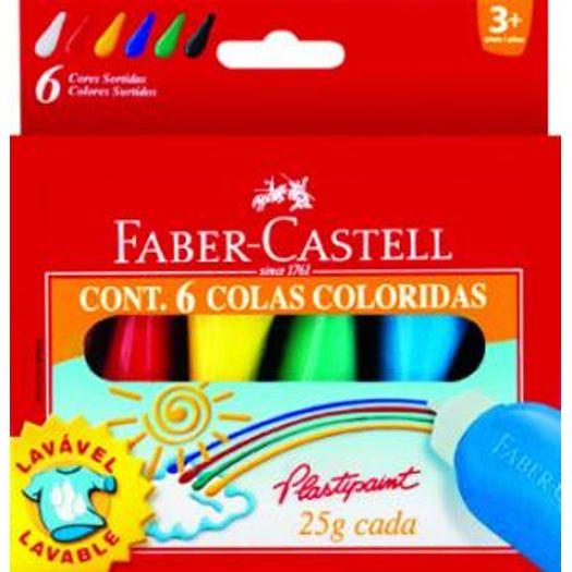 Cola Colorida 6 Cores 23g Plastipaint Ht170106 Faber