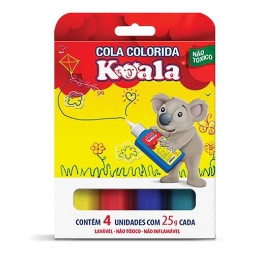 Cola Colorida Escolar Koala C/ 4 Cores - Delta