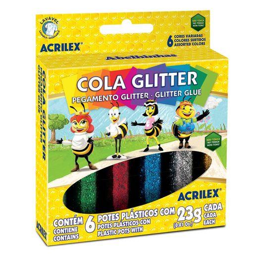Cola com Glitter 23g 2923 6 Cores Acrilex