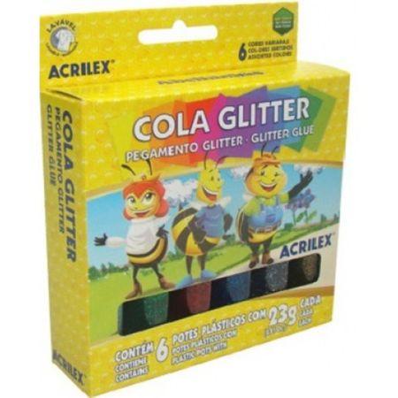 Cola Glitter 6 Cores 23g Cada Acrilex