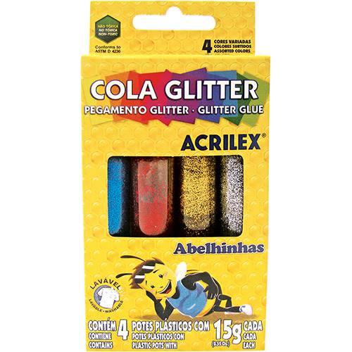Cola Glitter Acrilex 15gr 6 Cores