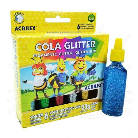Cola Glitter Acrilex - 6 Cores