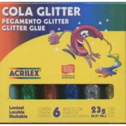 Cola Glitter com 6 Cores