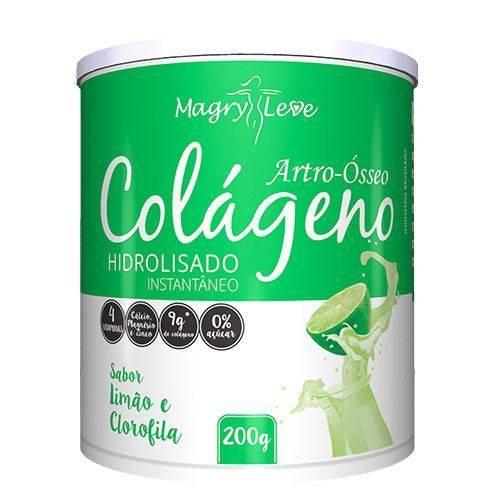 Colágeno Artro Ósseo Apisnutri Sabor Limão e Clorofila 200g