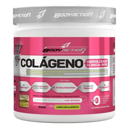 Colágeno Clinical Skin - 300g - Uva - Body Action