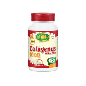 Colágeno Hidrolisado 1000mg 60 Cápsulas Unilife