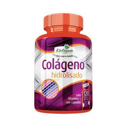 Colágeno Hidrolisado com Vitamina C - 120 Cápsulas - Katigua