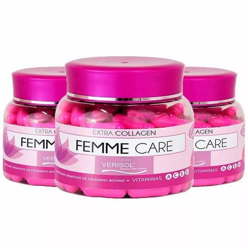 Colágeno Verisol Femme Care - 3x 90 Cápsulas - Unilife