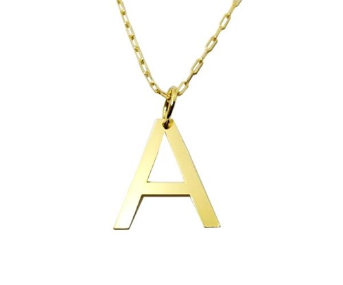 Colar Cartier Letra Lisa Personalizada Banhado a Ouro 18k