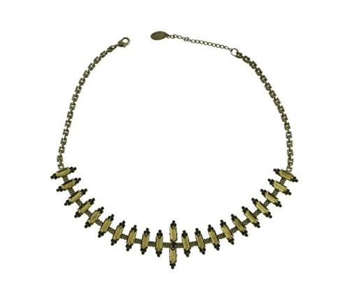 Colar Choker Iconic Black Diamond com Cristais Swarovski By Cris Arcangeli