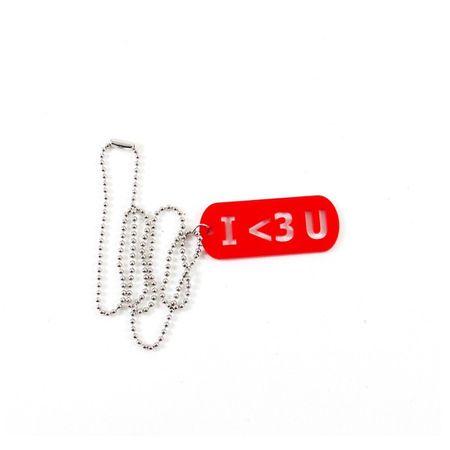 Colar I Love U - Cor : Red