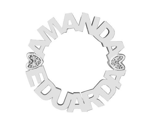 Colar Mandala Personalizada Make Hearts em Prata 925