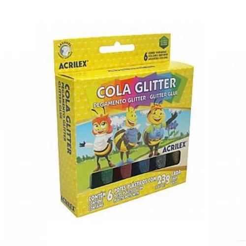 Colas com Gliter Estojo C/06 Cores 23g.