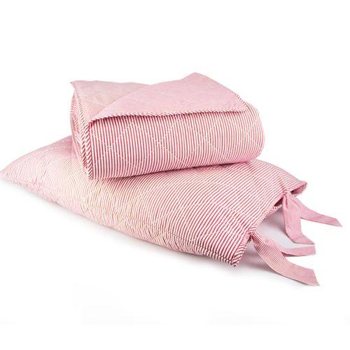 Colcha Boutie King Emporio Daily Vermelho com Porta Travesseiros