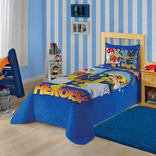 Colcha Infantil Matelassê - Patrulha Canina Azul - Lepper