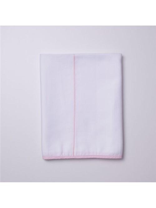 Colcha Orsetto para Berço Branca e Rosa 11X14