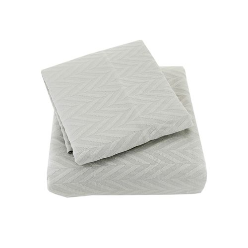 Colcha Solteiro Cotton Spina Cinza com Porta Travesseiro