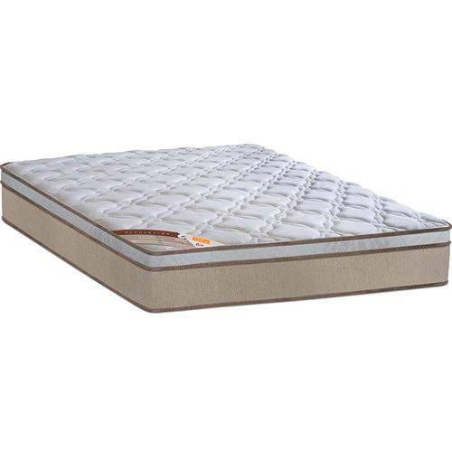 Colchão Queen Pillow Top Revolution Pocket - Castor - Branco / Bege
