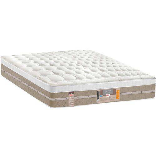 Colchão Silver Star Air Pocket One Face 193x203x32 - Castor Palha/bege