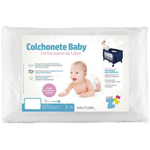 Colchonete Baby Fibrasca Látex 113x78cm