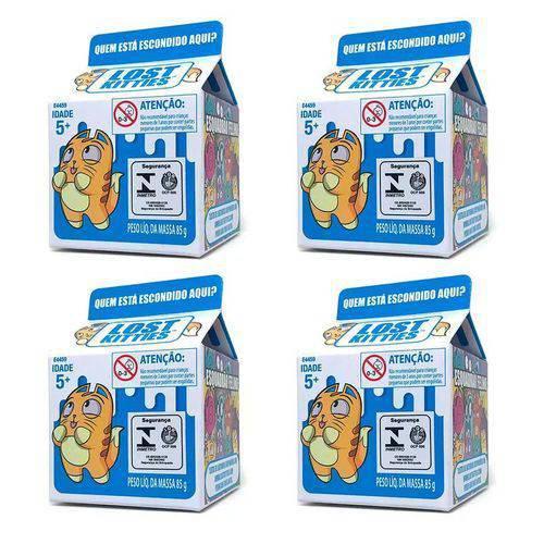 Colecao 4 Mini Surpresa Lost Kitties - Hasbro